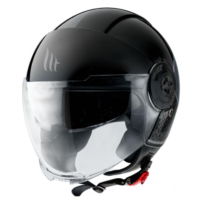 Casca MT Viale SV Break A1 negru lucios (ochelari soare integrati) [1]
