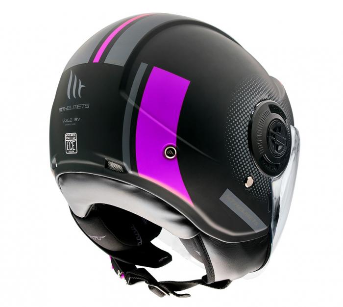 Casca MT Viale SV Phantom C8 roz mat (ochelari soare integrati) [2]