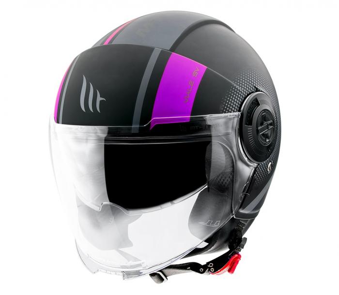 Casca MT Viale SV Phantom C8 roz mat (ochelari soare integrati) [1]