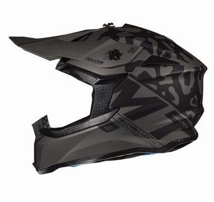 Casca off road motociclete MT Falcon Karson F0 negru mat [0]