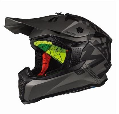 Casca off road motociclete MT Falcon Karson F0 negru mat [1]