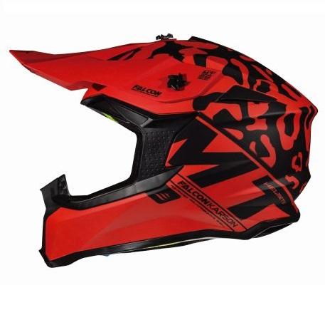 Casca off road motociclete MT Falcon Karson F1 rosu mat [0]
