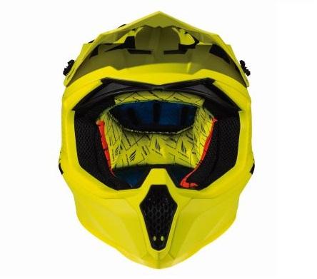 Casca off road motociclete MT Falcon Karson F2 galben fluor mat [2]