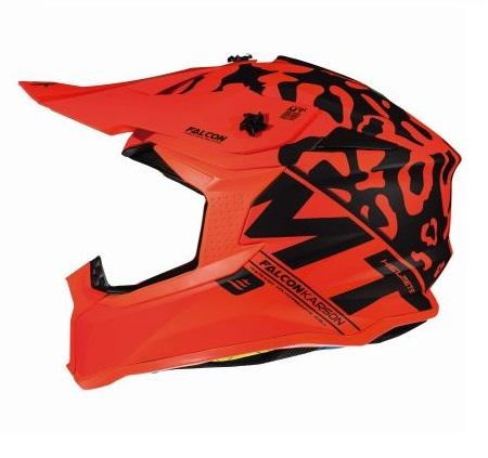 Casca off road motociclete MT Falcon Karson F3 portocaliu fluor mat [0]