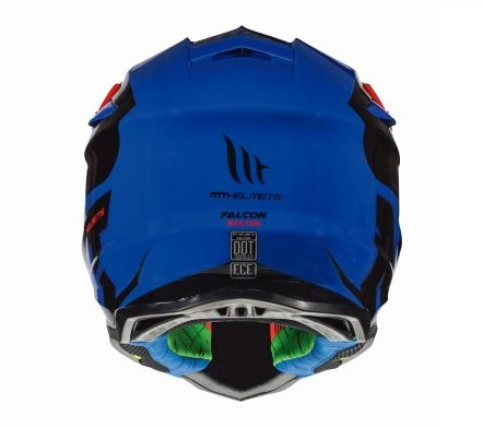 Casca off road motociclete MT Falcon Weston B0 albastru lucios [3]