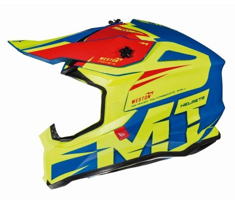 Casca off road motociclete MT Falcon Weston C1 galben fluor lucios [0]