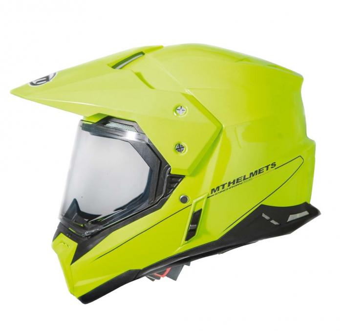 Casca off road motociclete MT Synchrony Duo Sport galben fluor lucios cu viziera (ochelari soare integrati) [0]