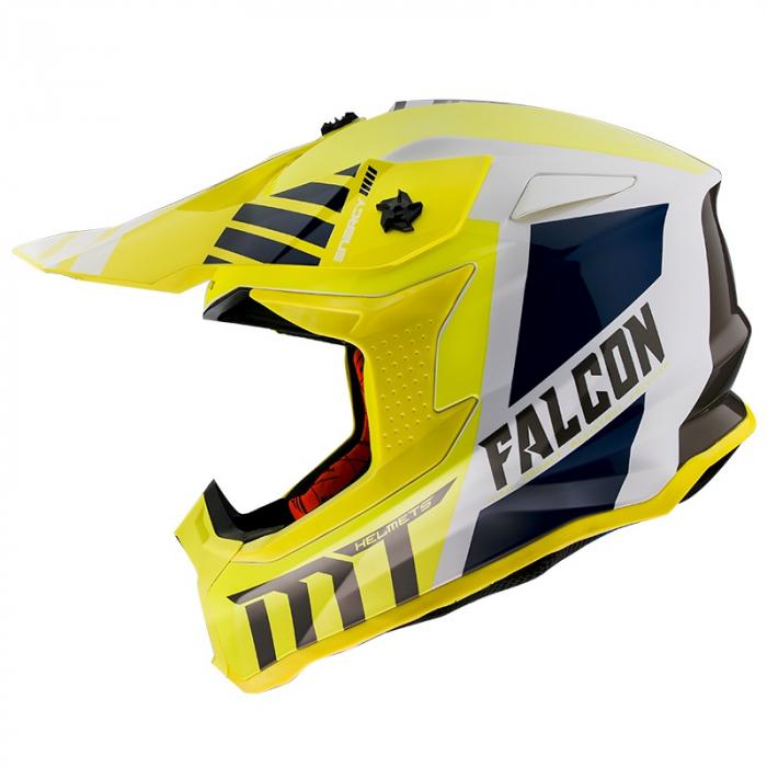 Casca off road MT Falcon Warrior A3 galben lucios [0]