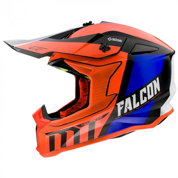 Casca off road MT Falcon Warrior C4 portocaliu lucios [0]