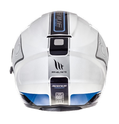 Casca open face motociclete MT Avenue SV Crossroad alb/albastru lucios (ochelari soare integrati) [3]