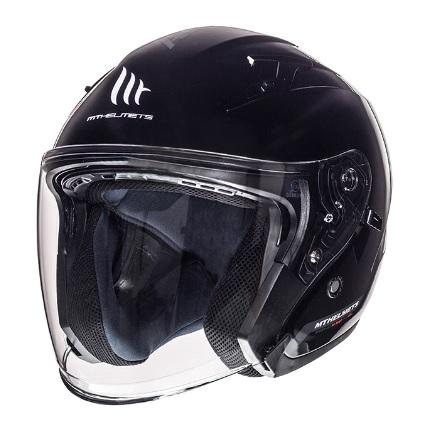 Casca open face motociclete MT Avenue SV negru lucios (ochelari soare integrati) [1]