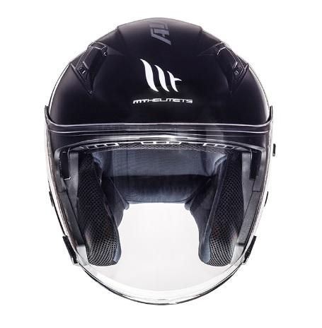 Casca open face motociclete MT Avenue SV negru lucios (ochelari soare integrati) [2]