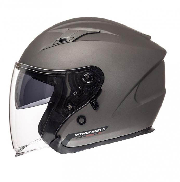 Casca open face motociclete MT Avenue SV titanium mat (ochelari soare integrati) [0]