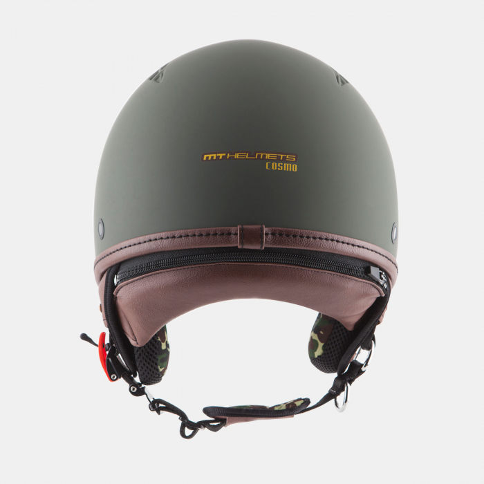 Casca open face motociclete MT Cosmo SV verde military mat (ochelari soare integrati) [3]