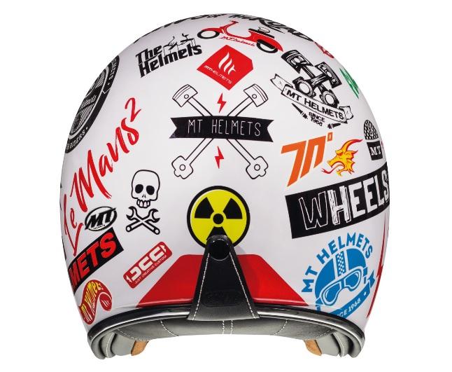Casca open face motociclete MT Le Mans 2 SV Anarchy A0 alb lucios (ochelari soare integrati) [3]