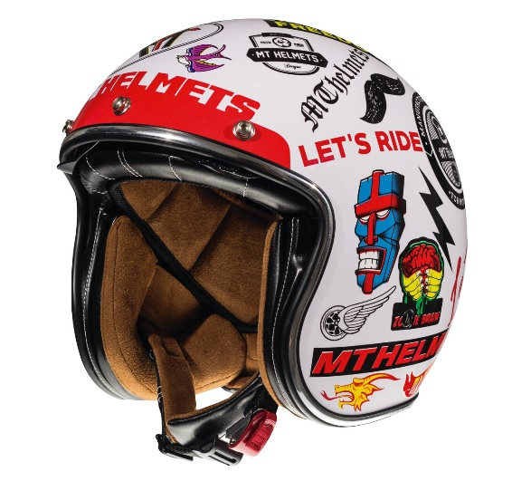 Casca open face motociclete MT Le Mans 2 SV Anarchy A0 alb lucios (ochelari soare integrati) [1]