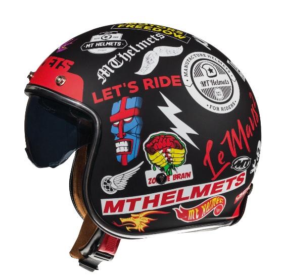 Casca open face motociclete MT Le Mans 2 SV Anarchy A1 negru mat (ochelari soare integrati) [0]