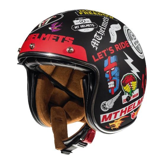 Casca open face motociclete MT Le Mans 2 SV Anarchy A1 negru mat (ochelari soare integrati) [1]