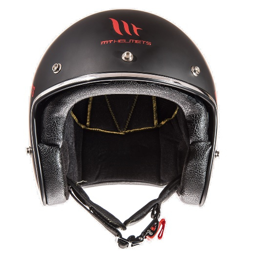 Casca open face motociclete MT Le Mans SV Divenire negru/rosu mat (ochelari soare integrati) [2]