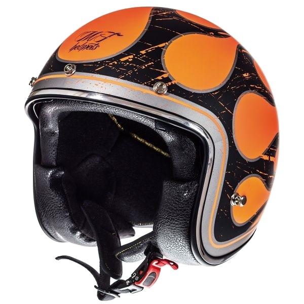 Casca open face motociclete MT Le Mans SV Flaming negru/portocaliu lucios (ochelari soare integrati) [1]