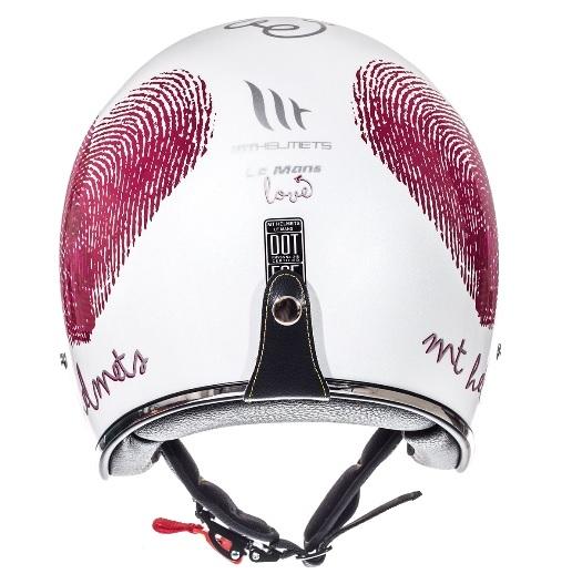 Casca open face motociclete MT Le Mans SV Love alb/rosu/fuchsia lucios (ochelari soare integrati) [3]