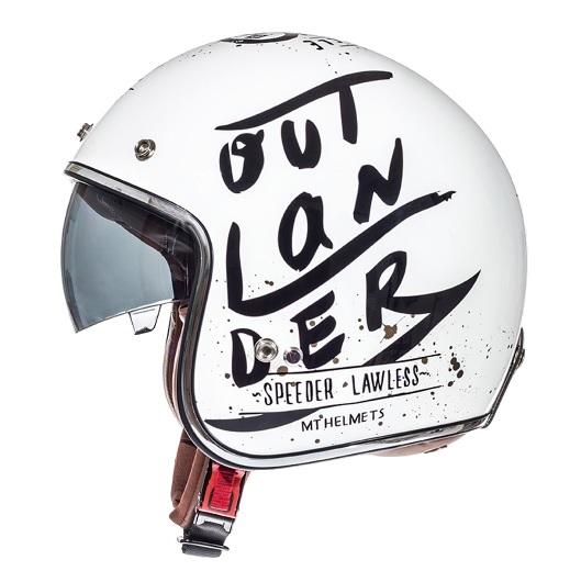 Casca open face motociclete MT Le Mans SV Outlander alb/negru lucios (ochelari soare integrati) [0]