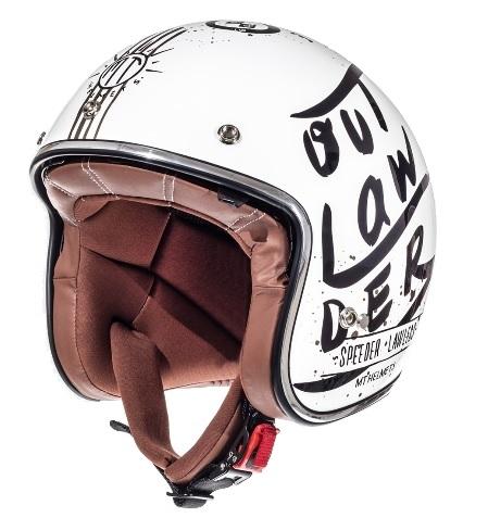 Casca open face motociclete MT Le Mans SV Outlander alb/negru lucios (ochelari soare integrati) [1]