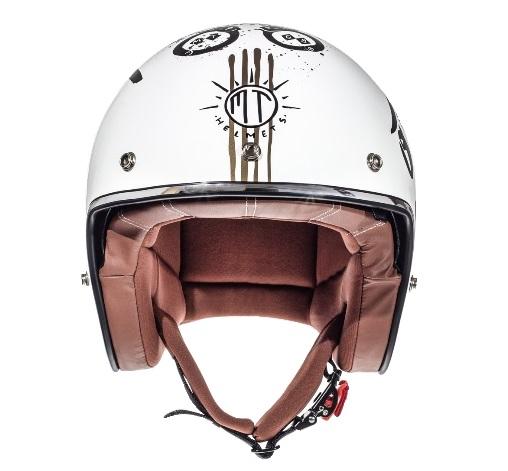 Casca open face motociclete MT Le Mans SV Outlander alb/negru lucios (ochelari soare integrati) [2]