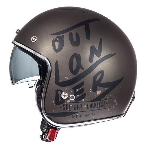 Casca open face motociclete MT Le Mans SV Outlander maro metalic/negru mat (ochelari soare integrati) [0]