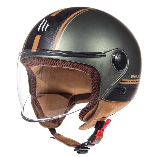 Casca open face motociclete MT Street Entire I2 maro mat (open face) [1]