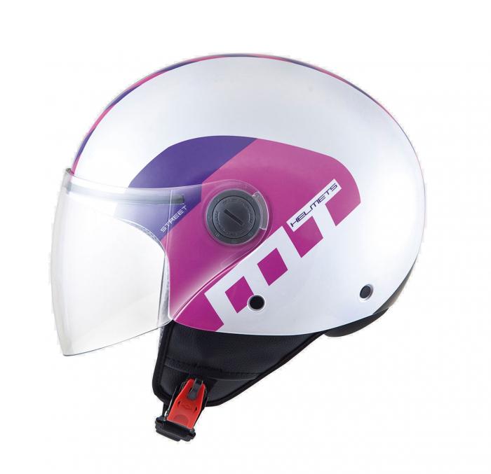 Casca open face motociclete MT Street Metro alb/fuchsia/mov [0]