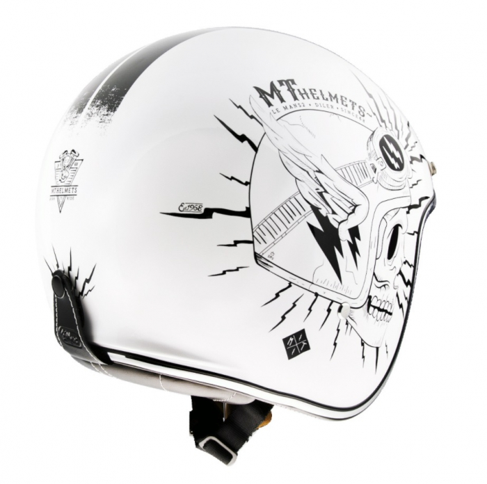 Casca open face MT Le Mans 2 SV Diler B0 alb lucios (ochelari soare integrati) [2]