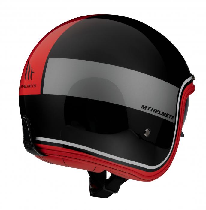 Casca open face MT Le Mans 2 SV Tant A5 negru/rosu lucios (ochelari soare integrati) [2]