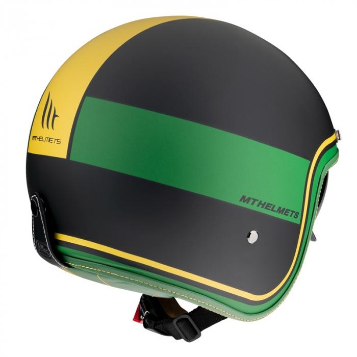 Casca open face MT Le Mans 2 SV Tant C9 negru/auriu mat (ochelari soare integrati) [2]
