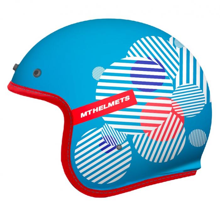 Casca open face MT Le Mans 2 SV Zero F7 albastru lucios (ochelari soare integrati) [0]