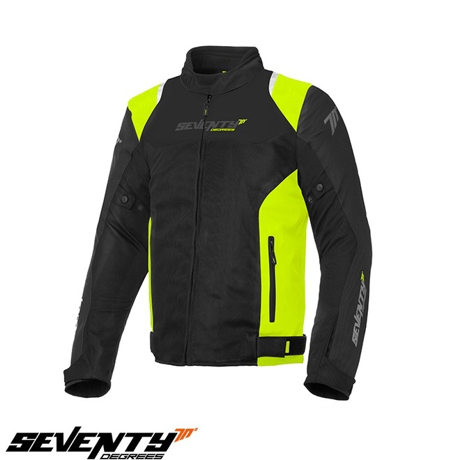Geaca (jacheta) barbati Racing vara Seventy model SD-JR48 culoare: negru/galben fluor [0]