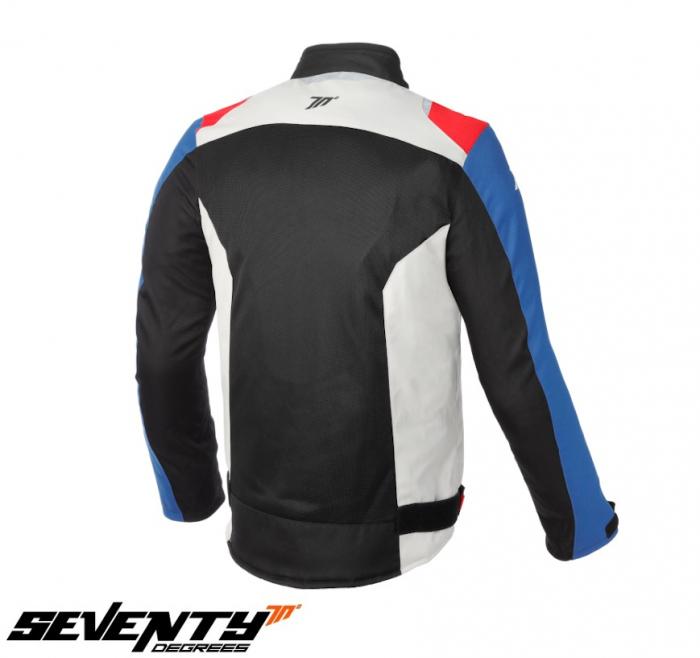 Geaca (jacheta) barbati Racing vara Seventy model SD-JR48 culoare: negru/rosu/albastru [1]