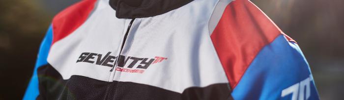 Geaca (jacheta) barbati Racing vara Seventy model SD-JR48 culoare: negru/rosu/albastru [3]