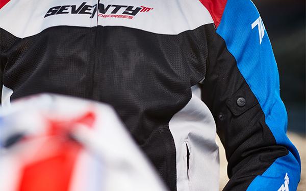 Geaca (jacheta) barbati Racing vara Seventy model SD-JR48 culoare: negru/rosu/albastru [2]