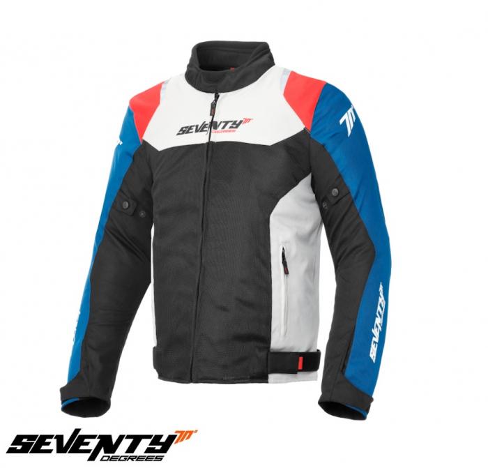 Geaca (jacheta) barbati Racing vara Seventy model SD-JR48 culoare: negru/rosu/albastru [0]