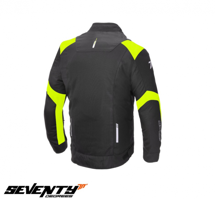 Geaca (jacheta) barbati Racing vara Seventy model SD-JR52 culoare: negru/galben fluor [1]
