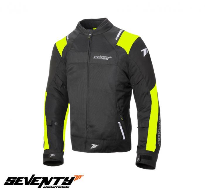 Geaca (jacheta) barbati Racing vara Seventy model SD-JR52 culoare: negru/galben fluor [0]