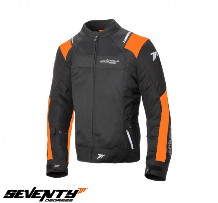 Geaca (jacheta) barbati Racing vara Seventy model SD-JR52 culoare: negru/portocaliu [0]
