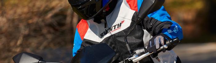 Geaca (jacheta) femei Racing vara Seventy model SD-JR50 culoare: negru/rosu/albastru [2]