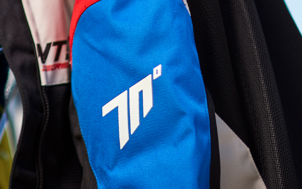 Geaca (jacheta) femei Racing vara Seventy model SD-JR50 culoare: negru/rosu/albastru [5]