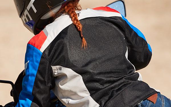 Geaca (jacheta) femei Racing vara Seventy model SD-JR50 culoare: negru/rosu/albastru [3]