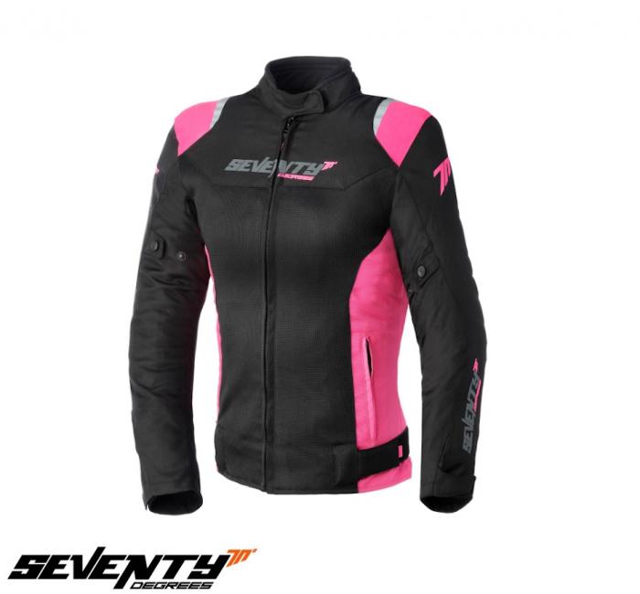 Geaca (jacheta) femei Racing vara Seventy model SD-JR50 culoare: negru/roz [0]