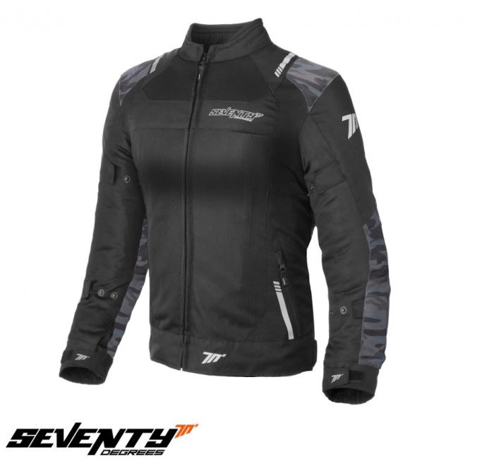 Geaca (jacheta) femei Racing vara Seventy model SD-JR54 culoare: negru/camuflaj [0]