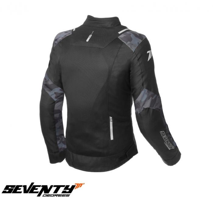 Geaca (jacheta) femei Racing vara Seventy model SD-JR54 culoare: negru/camuflaj [1]