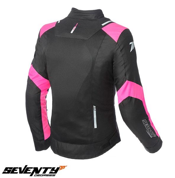 Geaca (jacheta) femei Racing vara Seventy model SD-JR54 culoare: negru/roz [1]